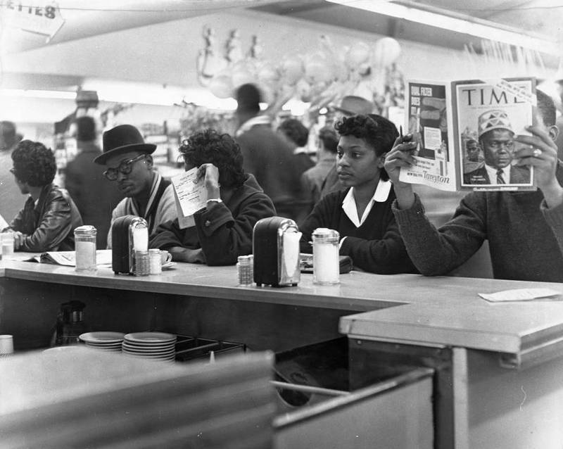 Photograph, Students at a Sit-In at Weingarten Cafeteria
