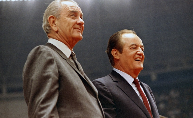 Photograph, President Lyndon B. Johnson and Hubert Humphrey