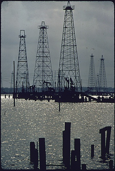Abandoned oil field 15 miles south of Houston