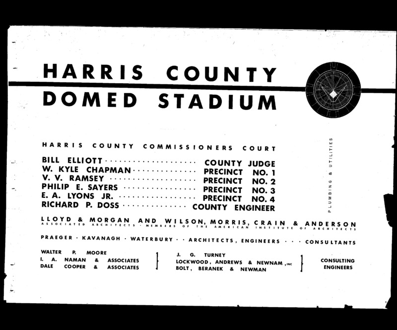 Architectural Drawings of the Harris County Sports Stadium