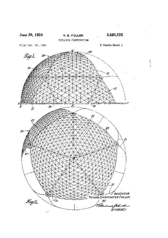 Building Construction [U.S. Patent 2,682,235]
