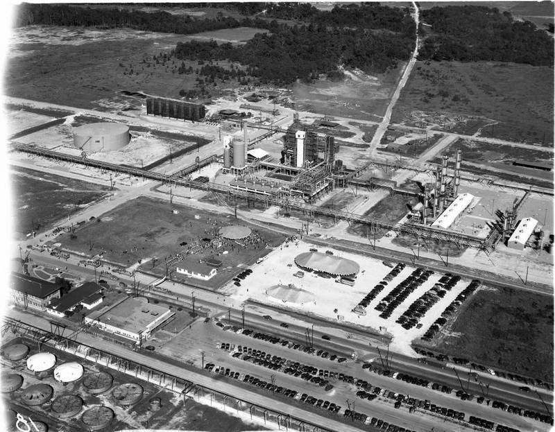 Photograph, Aerial of Industrial Plant on the Houston Ship Channel