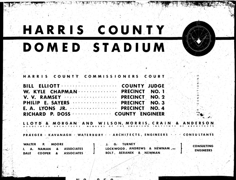 Air Conditioning and Ventilation Drawings, Harris County Domed Stadium