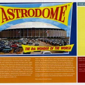 """""""Astrodome: the 8th Wonder of the World"""""""