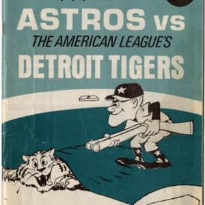 Cover, Souvenir Program, Astros vs. Tigers