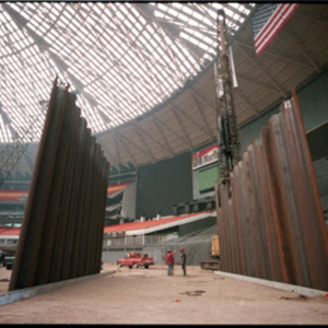 Anchors set for wall interior Astrodome