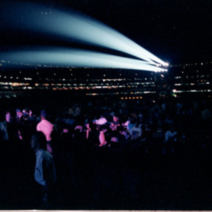 Spot lights at the Rolling Stones concert<br /><br />