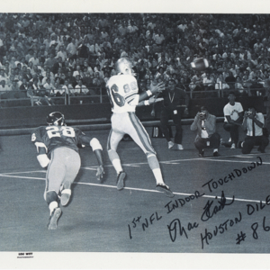 Signed Photograph, First Indoor NFL Touchdown