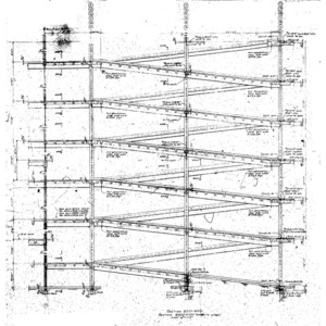 Structural Drawings, Harris County Domed Stadium
