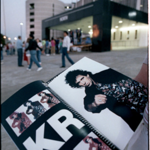 Fan showing off Programme for the Rolling Stones<br /><br />