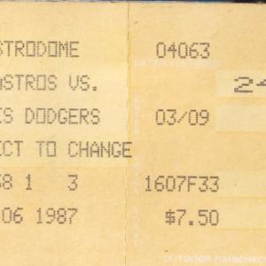 Ticket, Astros vs. Dodgers