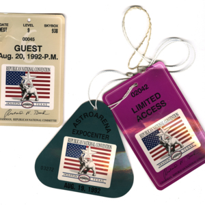 Access badges from Republican Convention <br /><br />