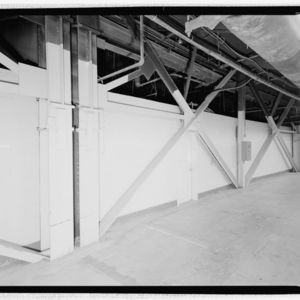 Photograph, Astrodome, Structural Detail Of Lateral Load Bracing System At Ground Level