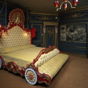 Phoograph, Calliope Bed in the Celestial Suites Room of the Hotel Astrodome in Houston, Texas