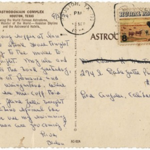 Postcard, Astrodomain