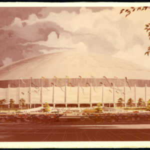 Architectural Rendering, Exterior View of Astrodome