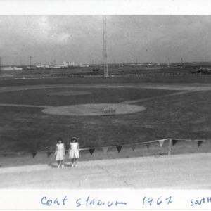 Photograph, Martha Raskin and Shana Bauman at Colt Stadium