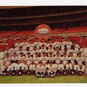 Photograph, Astros Baseball Team with Logo