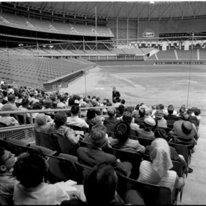 People seated in the Astrodome<br /><br />