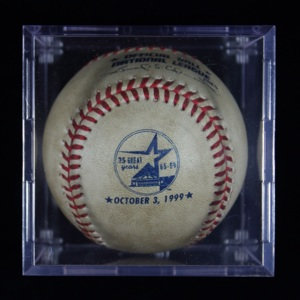 Final Regular-Season Baseball used by the Astros in the Astrodome