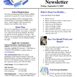 """""""Katrina Newsletter: September 6, 2005"""""""