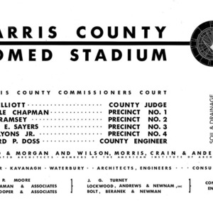 Soil and Drainage Drawings, Harris County Sports Stadium