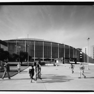 Photograph, Astrodome, South Elevation In Perspective, Looking North Northeast