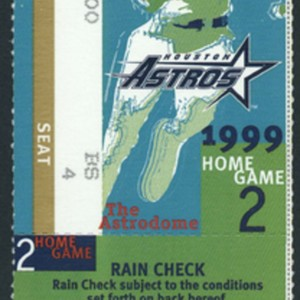 Ticket, Rain Check for Game 2 of the National League Division Series