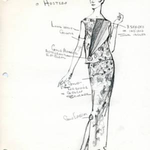 Fashion Design Drawing, Sky Dome Hostess