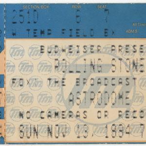 Ticket, Rolling Stones Concert