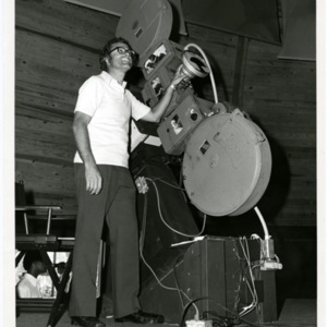 Photograph, Man and Projector