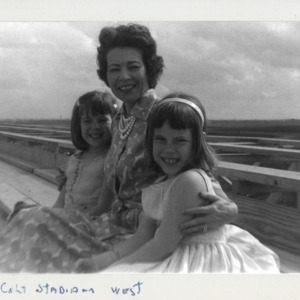 Photograph, Mother and her Daughters at Colt Stadium