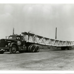 Photograph, Trucks Transporting Girders to the Astrodome, Image 3