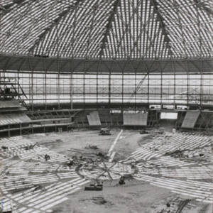 Photograph, Astrodome Interior During Construction