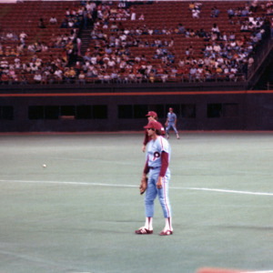 Photograph, Four Baseball Players at the Astrodome