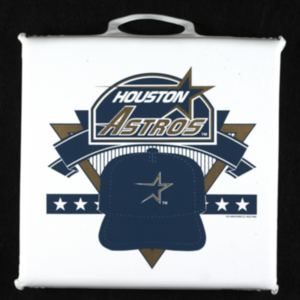 Blue and gold seat Astros cushion with handle