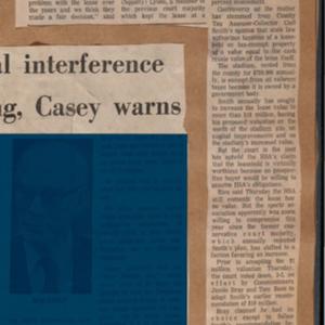 "Scrapbook Belonging to E. A. ""Squatty"" Lyons, Volume 12, September 1973 to December 1974"