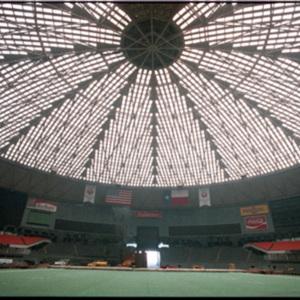 Interior Astrodome under repair