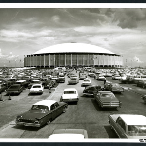 Photograph, Astrodome Exterior View with Cars