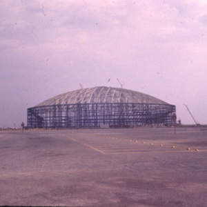 Astrodome Construction, Distant Exterior View