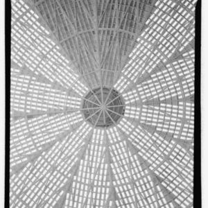 Photograph, Astrodome Lamella Dome Framing Detail