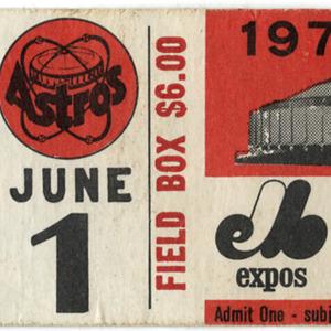 Ticket, Houston Astros Game