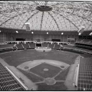 Wide view of the Interior of the Astrodome<br /><br />