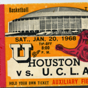 Ticket, University of Houston vs. University of California, Los Angeles