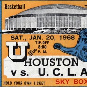 Ticket, University of Houston vs. University of California-Los Angeles College Basketball Game