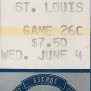 Ticket, Astros vs. Cardinals