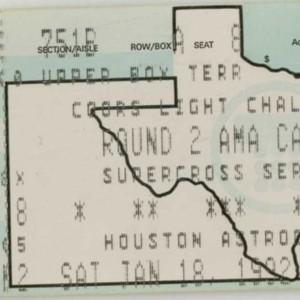 Ticket, Supercross