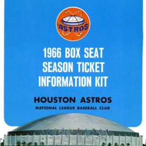 """1966 Box Seat Season Ticket Information Kit"""