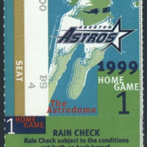 Ticket, Rain Check for Game 1 of the National League Division Series