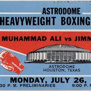 Ticket, Muhammad Ali vs. Jimmy Ellis